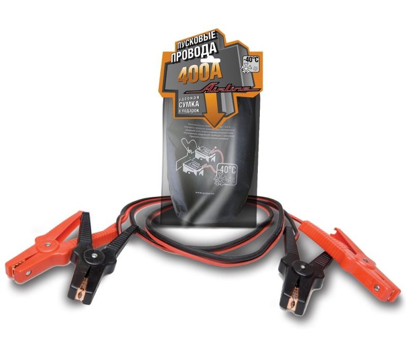 Провода прикуривания 400А (2,5м, 12/24В), AIRLINE, SA40001