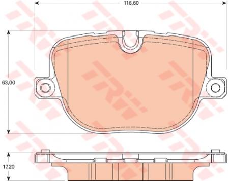 Колодки дисковые Задние, TRW, GDB1824
