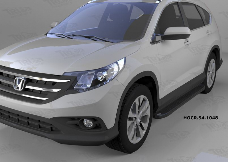 Пороги алюминиевые (Sapphire Black) Honda (Хонда) CR-V (2012-2014 /2015-), HOCR541048