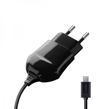СЗУ micro USB для цифровых устройств, 1A, черный, Deppa, 23120