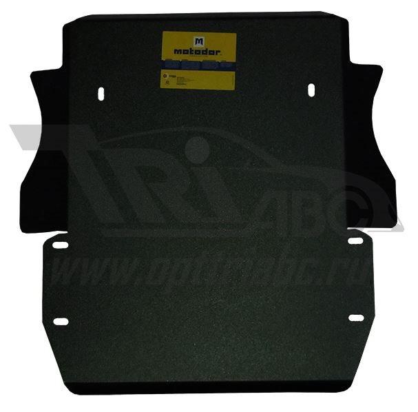 Защита картера двигателя, КПП, РК Land Rover Discovery III 2004-2009 V=2.7;4.4, 3 части (сталь 3 мм)