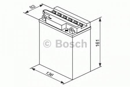 Аккумуляторная батарея Bosch Funstart FreshPack, 12 В, 12 А/ч, 120 А, 0092M4F320
