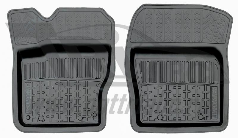 Коврики салона резиновые с бортиком для Ford Focus II (2005-2011) (2 передних), ADRPRO0292