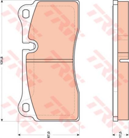 Колодки дисковые Задние, TRW, GDB1816
