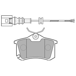 Колодки дисковые, DELPHI, LP1815