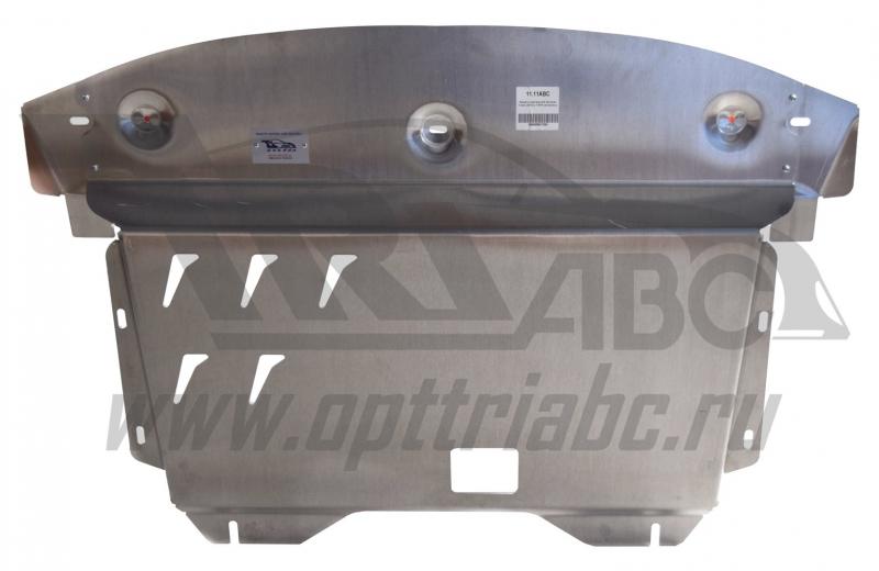 Защита картера двигателя и кпп Kia Sorento (Киа Соренто) V-все (2012-) (Алюминий 4 мм), 1111ABC
