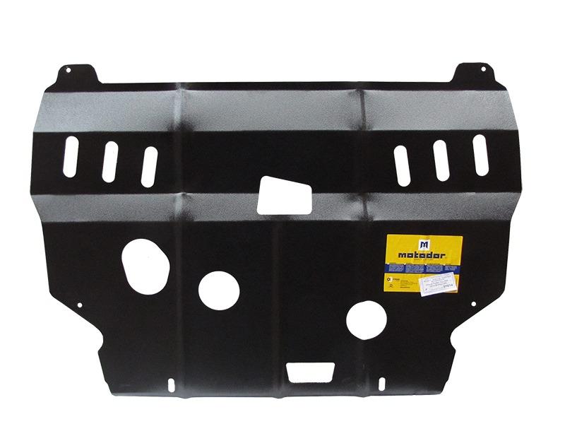 Защита картера двигателя, КПП Peugeot Partner 2008- V= все (сталь 2 мм), MOTODOR01614