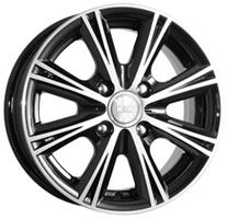 Колесный диск Кик Аттика 5.5x13/4x100 D67.1 ET46 алмаз черный