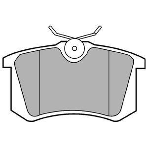 Колодки дисковые, DELPHI, LP571