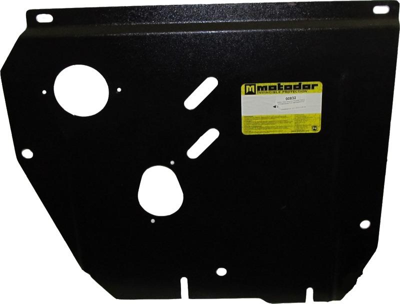 Защита картера двигателя, КПП, МФ Honda Civic 5D IX 2012- V=1,8i (сталь 2 мм), MOTODOR00832