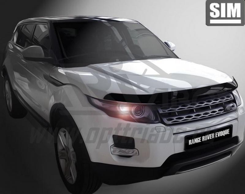 Дефлектор капота Land Rover Range Rover Evogue (2011-) (темн.), SLREVO1112