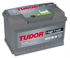 Аккумулятор TUDOR High-Tech 72 А/ч TA722 ОБР. 278x175x175 EN 720
