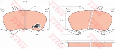 Колодки дисковые Передние, TRW, GDB3364