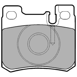 Колодки дисковые, DELPHI, LP947