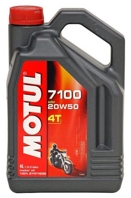 Моторное масло MOTUL 7100 4T, 20W-50, 4л, 101380