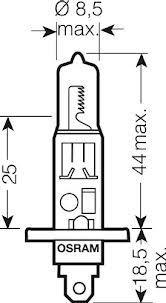 Лампа Pure Light, 12 В, 55 Вт, H1, P14,5s, BOSCH, 1 987 301 005