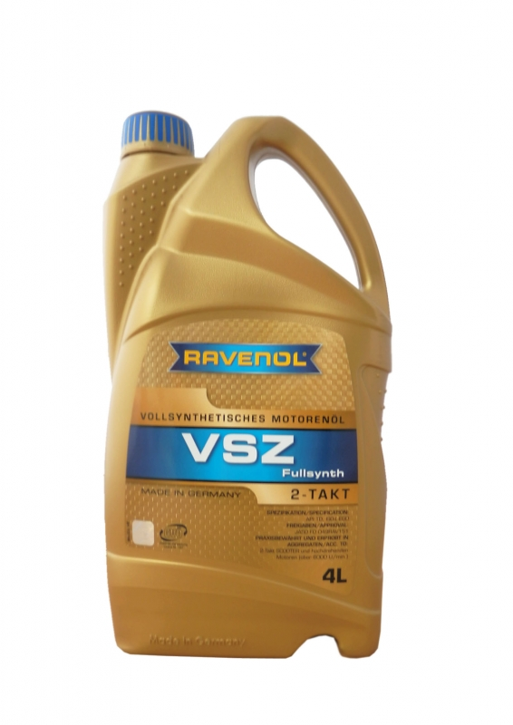 Моторное масло RAVENOL Vollsynthetisches Zweitakoel VSZ, 4 л, 4014835727298