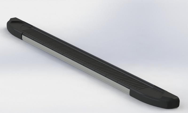 Пороги алюминиевые (Onyx) Suzuki Grand Vitara (2006-2010-) (возможна установка с брызговиками), SUGV