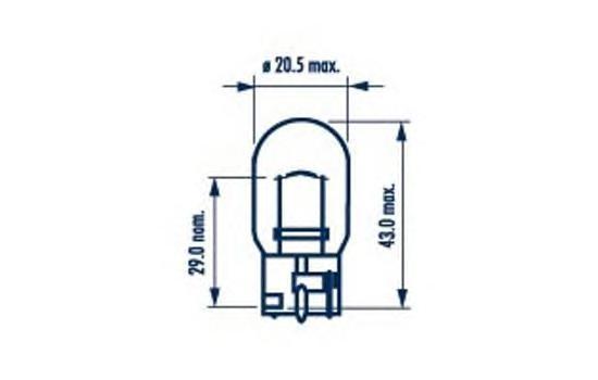 Лампа NARVA, 12 В, 21 Вт, W3x16d, 17632