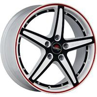 Колесный диск Yokatta MODEL-11 7x17/5x114,3 D67.1 ET41 белый +черный+красная полоса по ободу+черная