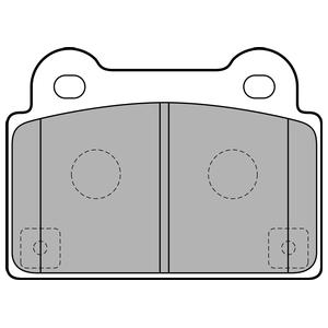 Колодки дисковые, DELPHI, LP2177