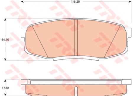 Колодки дисковые Задние, TRW, GDB3491