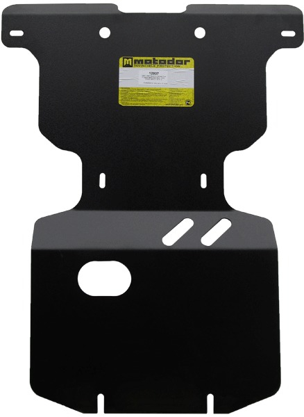 Защита картера двигателя, ПДФ, радиатора Ssang Yong Stavic 2013- V=2,0D (сталь 3 мм), MOTODOR12807