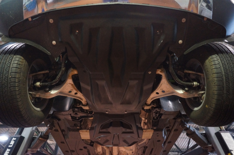 Защита картера двигателя и кпп MB ML350 W166, V-3,5; 3,0TD (2011-) , из 2-х частей, (Композит 10 мм)