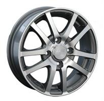 Колесный диск LS Wheels LS NG450 4.5x13/4x100 D66.6 ET43 черный насыщенный, с полированным ободом (H
