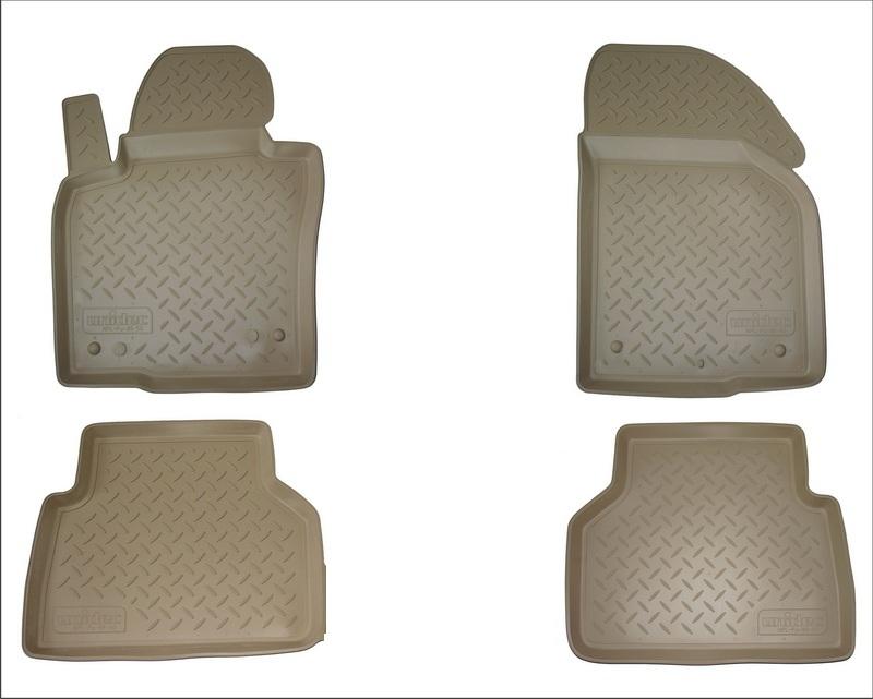 Коврики салона для Audi (Ауди) Q5 (2008-2012 / 2012-) бежевый (без перемычки), NPLPO0504BEIGE