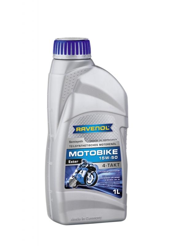 Моторное масло RAVENOL Motobike 4-T Ester, 15W-50, 1л, 4014835731219