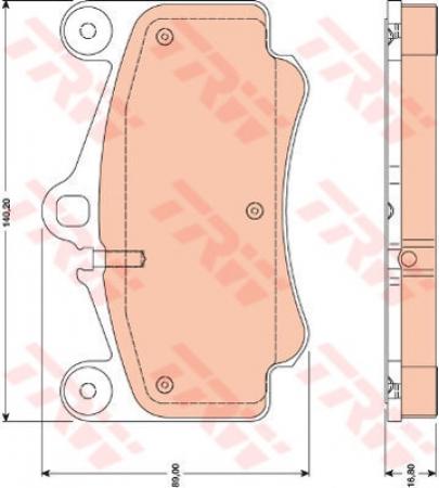 Колодки дисковые Передние, TRW, GDB1778