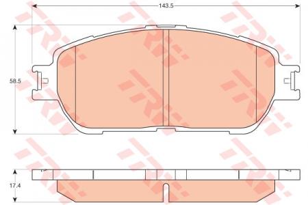 Колодки дисковые Передние, TRW, GDB3612