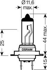 Лампа SILVERSTAR 2.0, 12 В, 55 Вт, H7, PX26d, OSRAM, 64210SV2DUOBOX