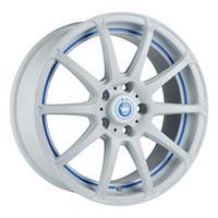 Колесный диск Konig SH08 7x17/5x105 D73.1 ET40 белый с синей полосой на ободе (WBU)