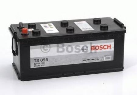 Аккумуляторная батарея Bosch T3, 12 В, 190 А/ч, 1200 А, 0092T30560