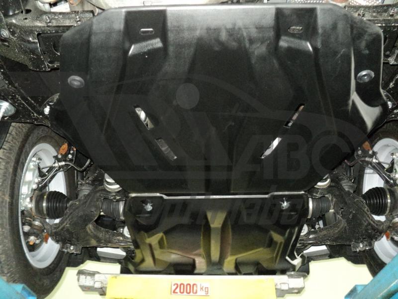 Защита картера двигателя и радиатора Toyota Land Cruiser (Тойота Ленд Круизер) Prado 150 V-все(2009-