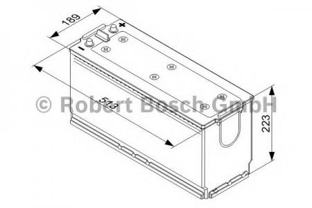 Аккумуляторная батарея Bosch, 12 В, 140 А/ч, 800 А, 0093X640B4