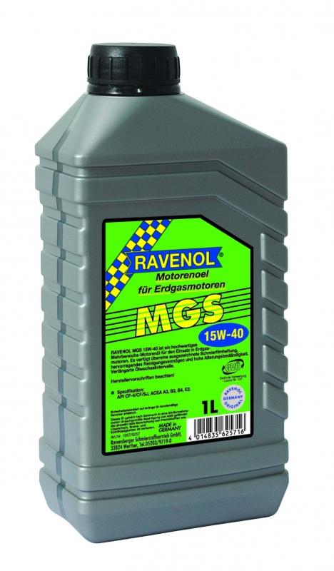 Моторное масло RAVENOL MGS, 15W-40, 1 л, 4014835625716