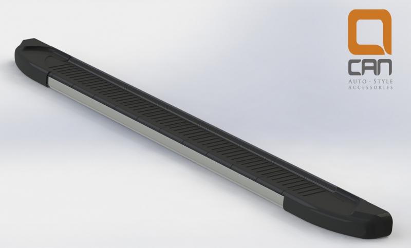 Пороги алюминиевые (Onyx) Nissan Qashqai (Ниссан Кашкай) +2 (2009-2014), NIQ2522083
