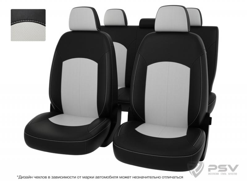 """Чехлы Chevrolet Orlando 12-> 5м чер-бел экокожа """"Оригинал"""", 125800"""