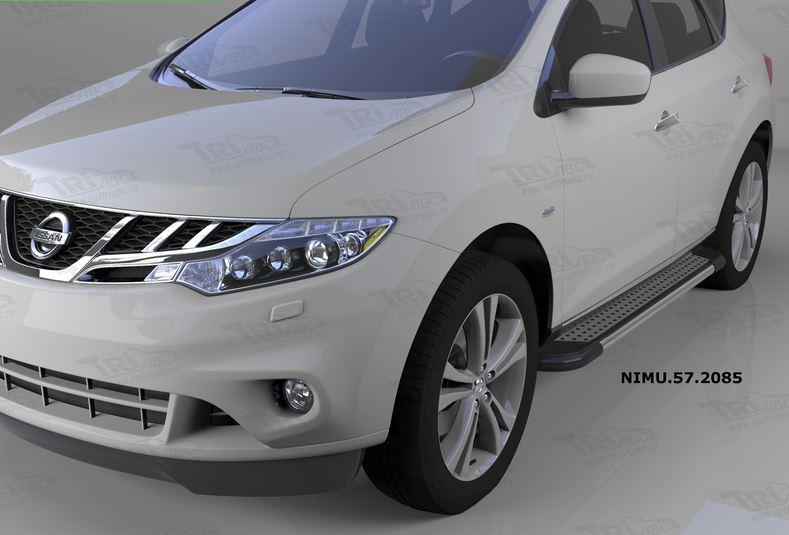 Пороги алюминиевые (Topaz) Nissan Murano (2008-), NIMU572085