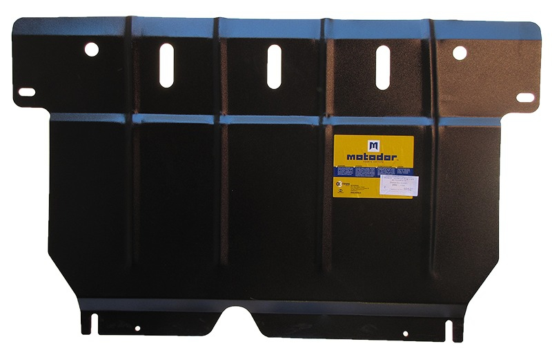 Защита картера двигателя, КПП Toyota Yaris (P2) 2005-2009 V= все (сталь 2 мм), MOTODOR02527