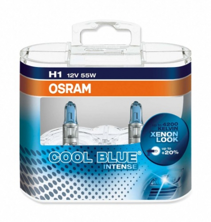 Лампа галогенная COOL BLUE INTENSE 4200K, 12В, 55 Вт, OSRAM, 64150CBIDUOBOX