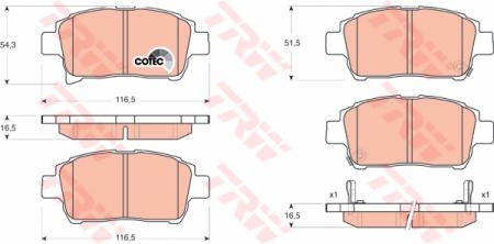 Колодки дисковые Передние, TRW, GDB3317