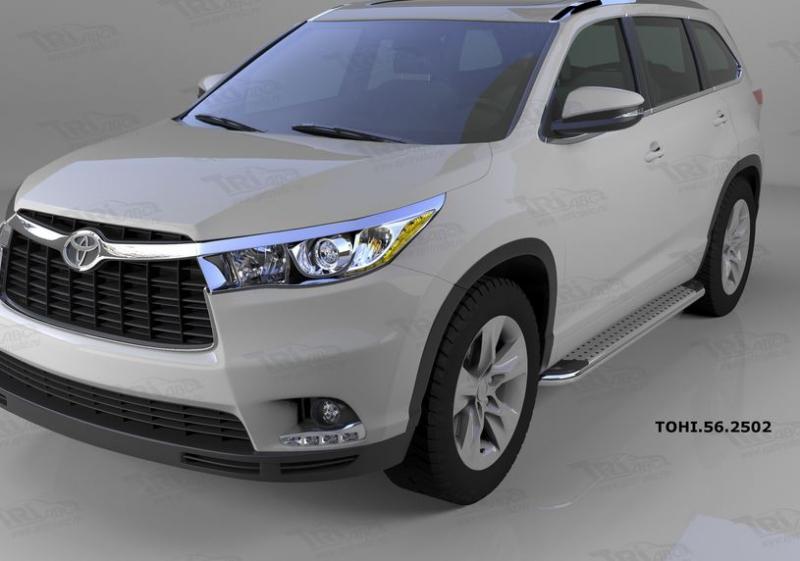 Пороги алюминиевые (Opal) Toyota Highlander (Тойота Хайлендер) (2014-), TOHI562502