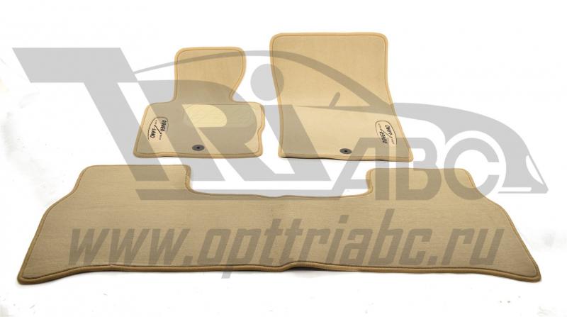 Коврики салона текстильный LAND ROVER Range Rover (2002-2012)(Велюр,полиамид)( п/у)беж, NPLVTE460551