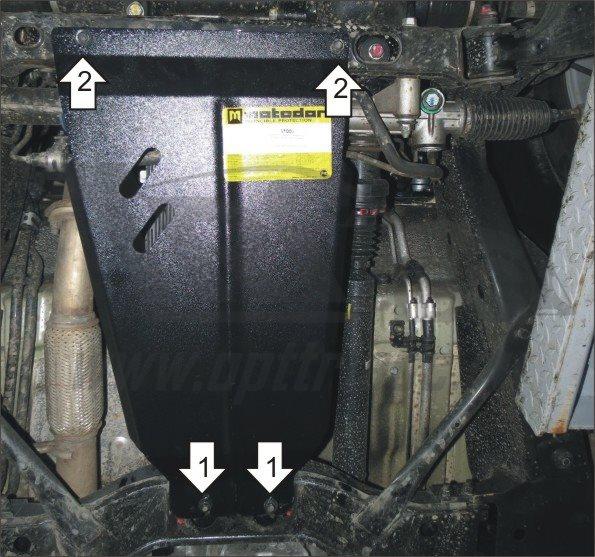 Защита кпп Kia Mohave 2008- V=3,0TDi (сталь 2 мм), MOTODOR61006