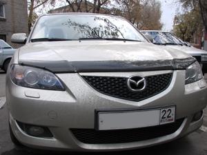Дефлектор капота Mazda (Мазда) 3 Sedan (2005-2009) (темный), SMAMA30512