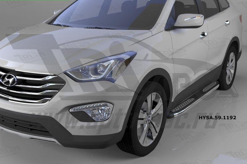 Пороги алюминиевые (Zirkon) Hyundai Santa Fe (Хёндай Санта Фе) (2012-/2013-/2015-), HYSA591192